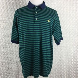 Masters Collection Striped Polo Shirt Sz XL